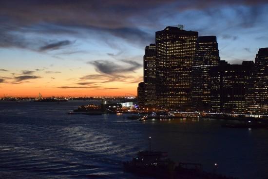 布魯克林橋看日落
