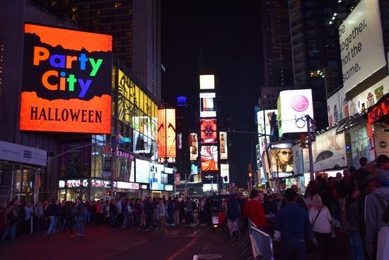 時代廣場的夜景