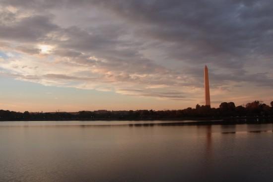 Tidal Lake與華盛頓紀念碑(黃昏)