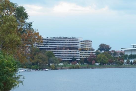 在喬治城可以望到水門大廈,水門事件就是在這裡發生